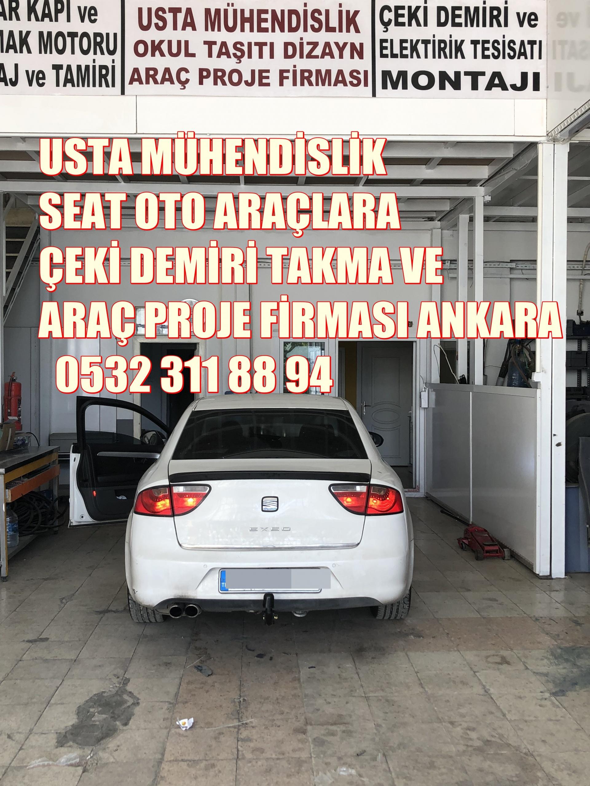 SEAT EXEO çeki demiri taktırma ve araç projesi Ankara USTA MÜHENDİSLİK 05323118894