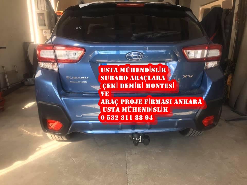 SUBARO çeki demiri takma montesi ve araç proje ankara USTA MÜHENDİSLİK 05323118894